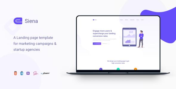 Siena - Marketing Landing Page Template by zytheme