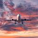 Landing passenger airplane at colorful sunset - PhotoDune Item for Sale