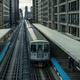 Adams Wabash Train line towards Chicago Loop - PhotoDune Item for Sale