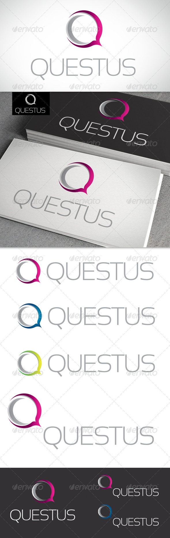 Q Letter Logo Template - Letters Logo Templates