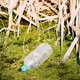 Old Plastic Bottle Floats In Water Of Swamp Or Bog. Used Empty B - PhotoDune Item for Sale