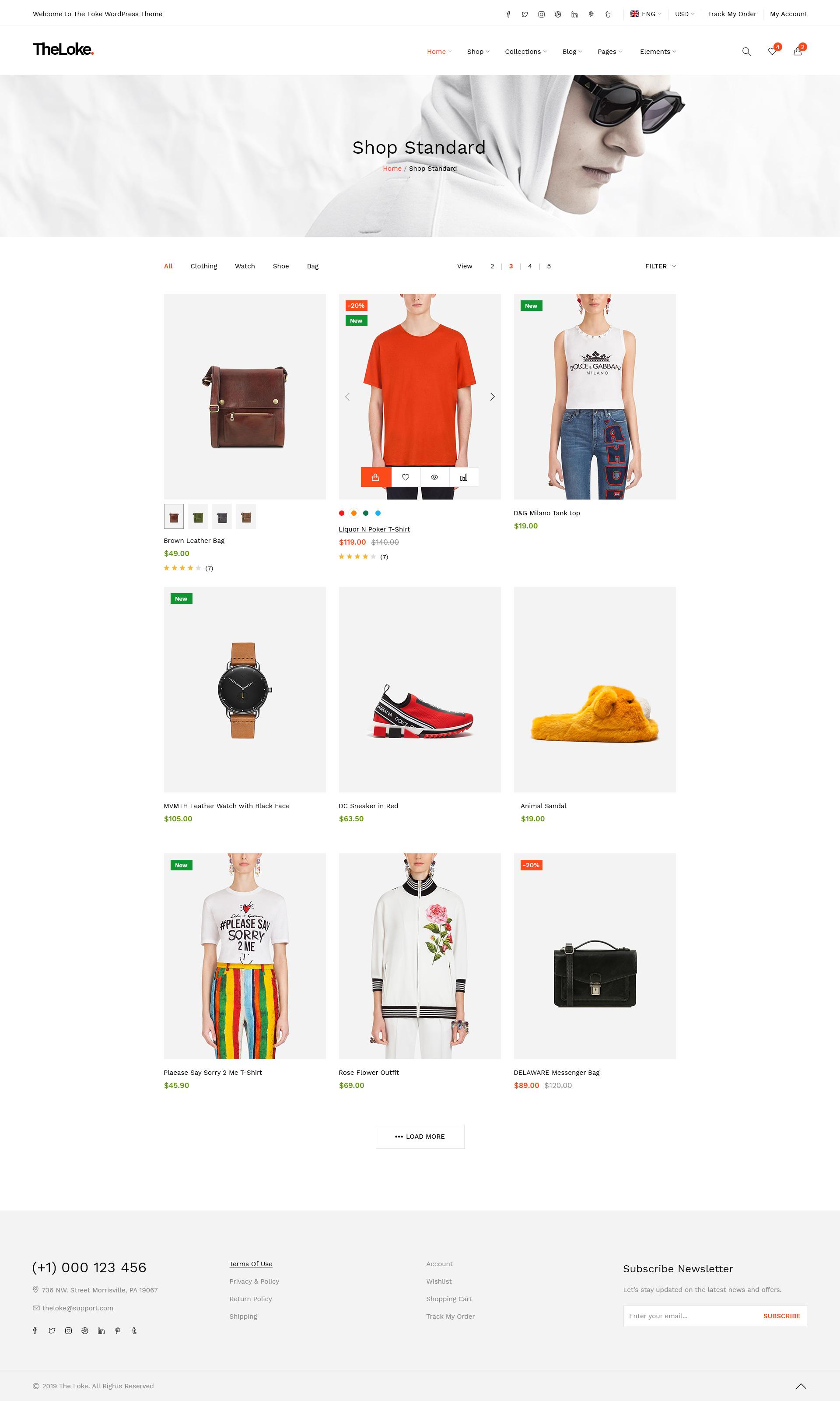 05e04e7f5 TheLoke - Clean & Modern Multi-Purpose eCommerce PSD Template by ...