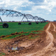 Center pivot irrigation system in wheat field - PhotoDune Item for Sale