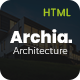 Archia - Architecture and Interior Design RTL Ready Template