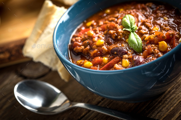 Mexican chili con carne. - Stock Photo - Images