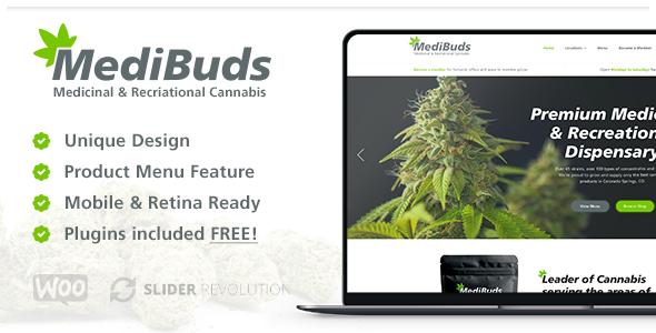 Medibuds – Medical Marijuana Dispensary WordPress Theme Free Download