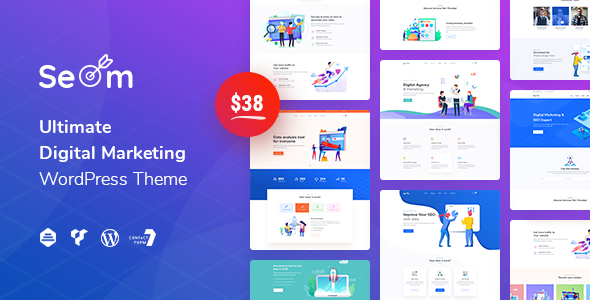 Seom – Digital Marketing & SEO WordPress Theme Free Download
