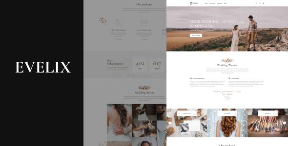 Evelix – Wedding Agency WordPress Theme Free Download