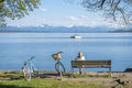 woman having a rest at Starnberg lake - PhotoDune Item for Sale