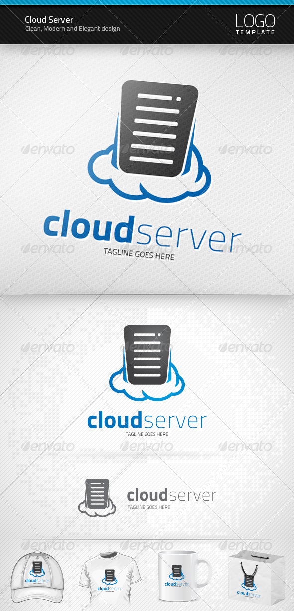 Cloud Server Logo - Symbols Logo Templates