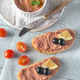 Sandwich with chicken liver pate and black olives - PhotoDune Item for Sale