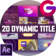 Dynamic Modern Titles I Backgrounds - VideoHive Item for Sale