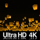 4K Sky Lanterns Released at Night - VideoHive Item for Sale