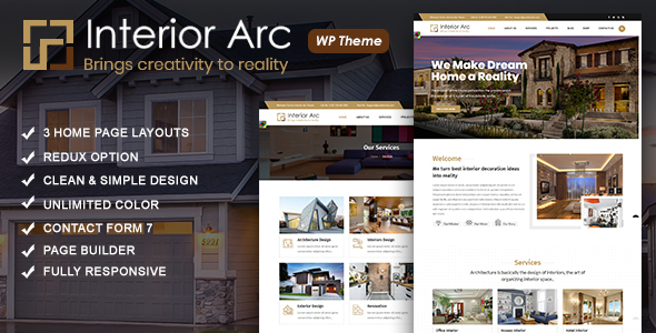 Interior Arc - Architecture WordPress Theme