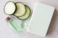 Cucumber Extract Soap Flat Lay - PhotoDune Item for Sale