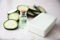 Cucumber Extract in Bottle with Soap - PhotoDune Item for Sale