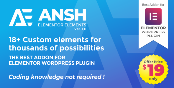 Ansh Elements For Elementor
