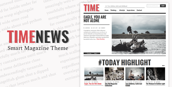 TimeNews v1.3 – Publisher, Magazine, Newspaper Theme