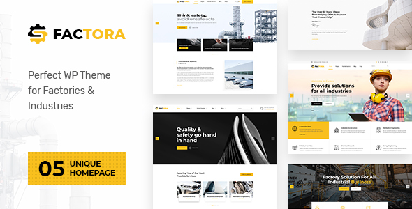 Factora - Factory, Industry Business WordPress Theme