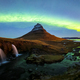 Northern light (Aurora Borealis) over Kirkjufell mountain in iceland - PhotoDune Item for Sale