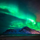 Aurora borealis (northern lights) over Skagsanden beach. Lofoten Islands, Norway - PhotoDune Item for Sale