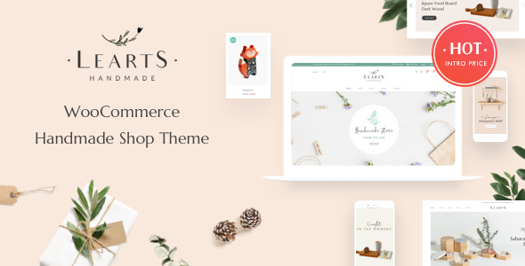 LeArts - Handmade Shop WooCommerce WordPress Theme