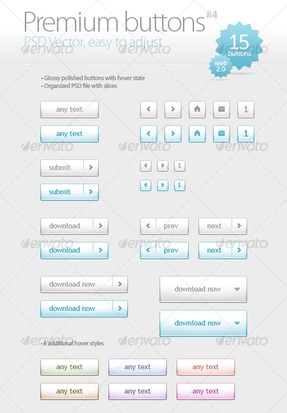 Premium buttons #4 - Buttons Web Elements