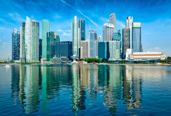 Modern city skyline - Stock Photo - Images