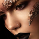 Futuristic make up. Close up portret. Macro - PhotoDune Item for Sale