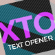 Dynamic Text Opener - VideoHive Item for Sale