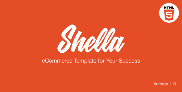 Shella - eCommerce HTML template, responsive, multipurpose