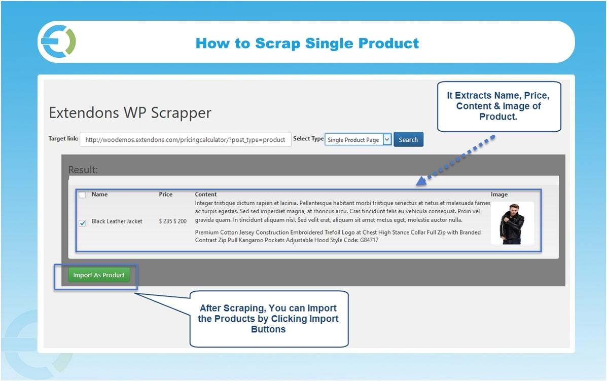 Woocommerce Scraper Plugin