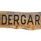 Isolated Wooden Kindergarten Sign - PhotoDune Item for Sale