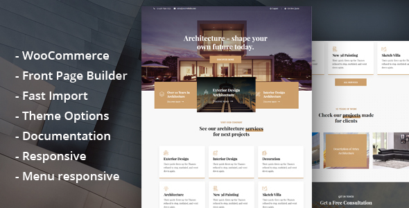 Glauss - Architecture & Creative Design WordPress Theme