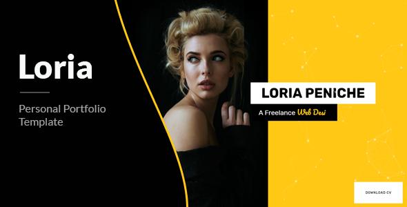 Loria – Bootstrap 4 Personal Portfolio by themepaa