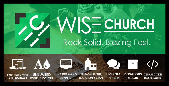 Download Wise Church – The Wisest Multi-Purpose Church WordPress Theme nulled wise church preview
