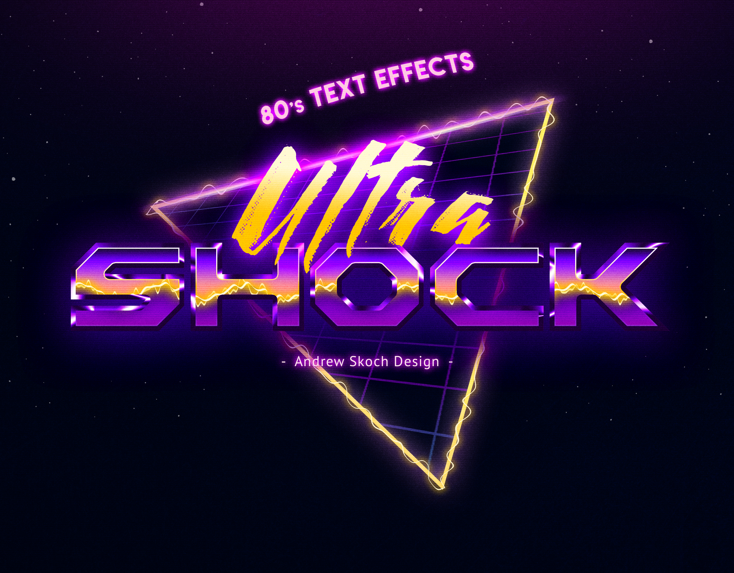 80s Retro Text Effects vol 2