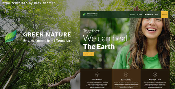 Green Nature - Environmental HTML Template