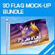 3D Flag Mock-up Bundle - GraphicRiver Item for Sale