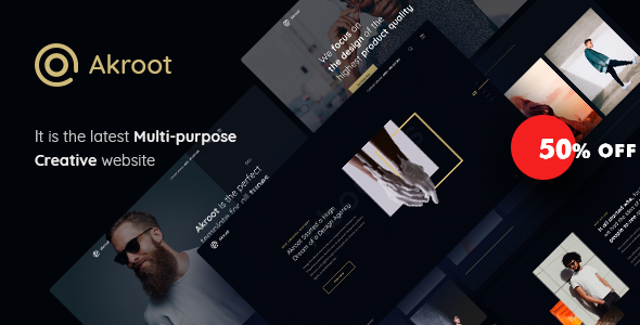 Akroot | It is the Multi-purpose Creative HTML5 Template