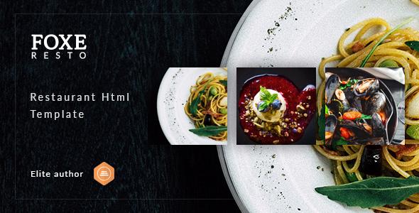 Foxeresto - Restaurant HTML Template