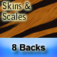 "8 ""Skins & Scales"" Animal Print Backgrounds - GraphicRiver Item for Sale"