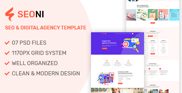 Seoni - SEO and Digital Agency HTML5 Template