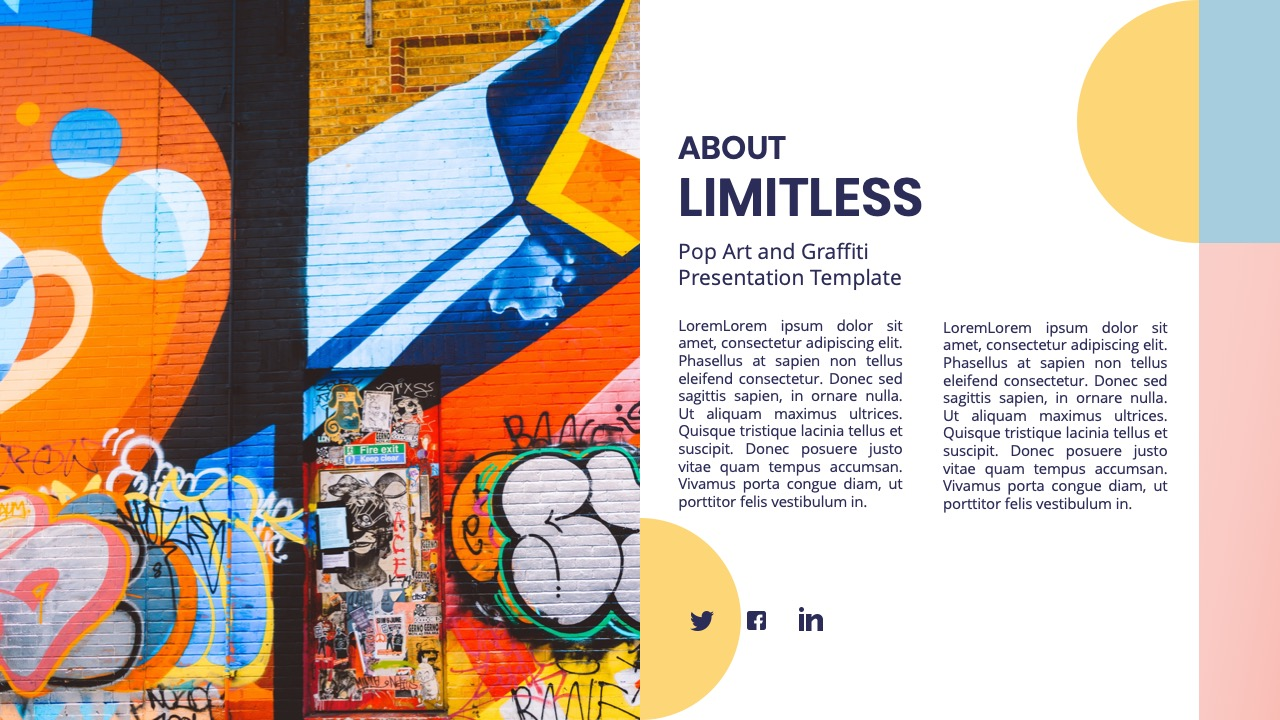 Limitless Pop Art Graffiti Powerpoint Template