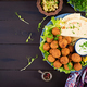 Falafel, hummus and pita. Middle eastern or arabic dishes - PhotoDune Item for Sale