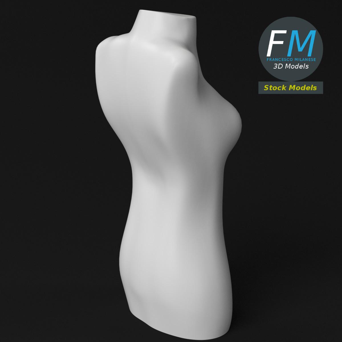 Female half body dummy mannequin