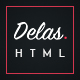 Delas - Dark Minimalist Blogging HTML Template
