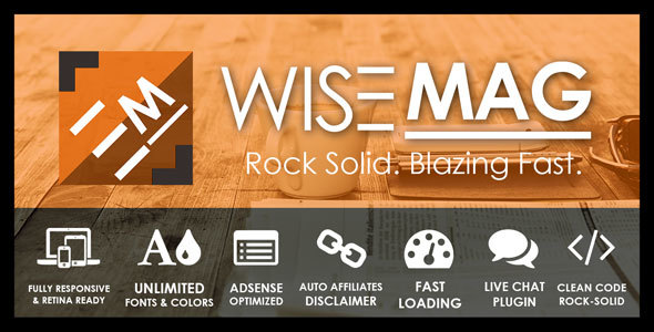 Wise Mag – The Wisest AD Optimized Magazine Blog WordPress Theme Free Download