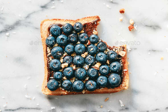 Top view of sweet toast - Stock Photo - Images