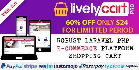 LivelyCart PRO - Laravel E-Commerce Platform   Shopping Cart